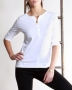 Топ 3/4 Sleeve Henley T-shirt