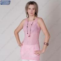 Туника Винтажный ажур платье цвет розовый размер 44-46 до 48 размера