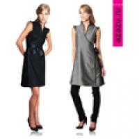 Платье серое / черное трансформер - двухцветное