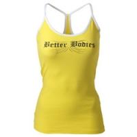 Майка Strap rib tank, Cyber yellow  размеры S-L