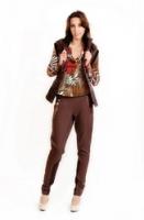 Эксклюзивные брюки с атласным кантом от Лады Калининой