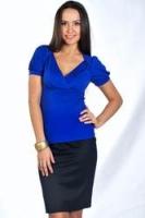 Синяя облегающая блуза от D&S