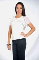 Молочная блузка с шифоновыми рукавами от D&S