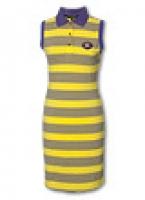 Полосатое платье в стиле поло в морском стиле