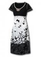 Оригинальное, молодежное платье, сочетающее в себе две фактуры: хлопок и атласный шелк