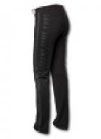 Трикотажные женские брюки с лампасами, с контрастной отстрочкой швов