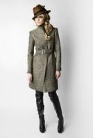 Эффектное пальто из шерсти в елочку от Kate Frankfurt