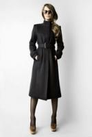Стильное удлиненное иссиня-черное пальто от Kate Frankfurt