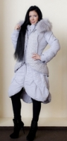 Нежно-серое пальто-двойка с жилетом