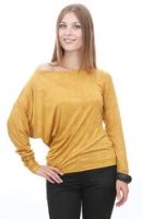 Ассиметричная трикотажная блузка.