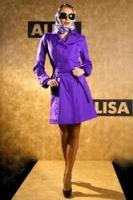 Стильный фиолетовый плащ от AlisaFashion